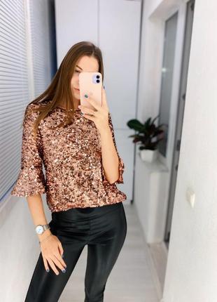 Блуза в пайетки
