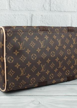 Дорожная сумка, саквояж 366 коричневая с логотипом6 фото