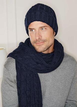 Мужской синий шарф косы tcm tchibo германия
