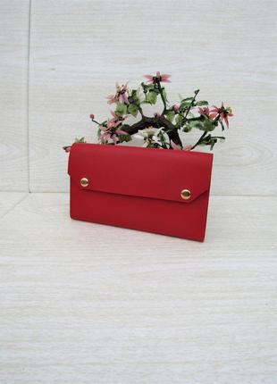 """Красный кошелек handmade """"monica"""""""