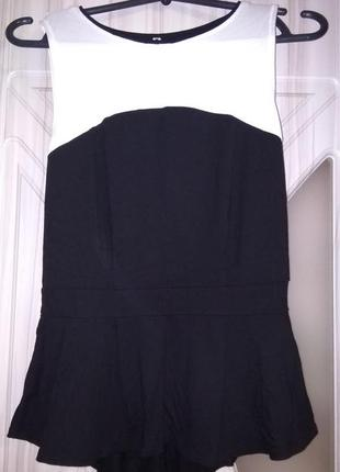 Топ блузка с баской
