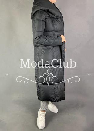 Пуховик одеяло оверсайз с капюшоном зимнее пальто