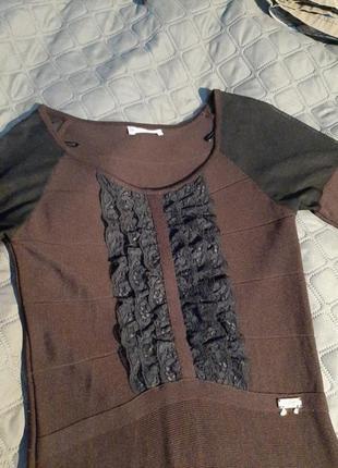 Платье горький шоколад