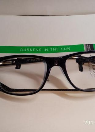 M + readers +1.75 очки для чтения, olive fade с чехлом