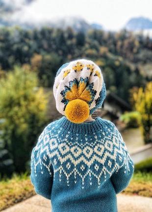 Вязаный свитер лопапейса