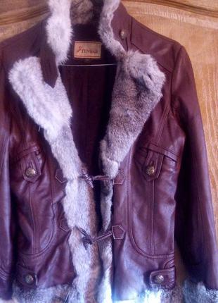 Куртка кожаная зима