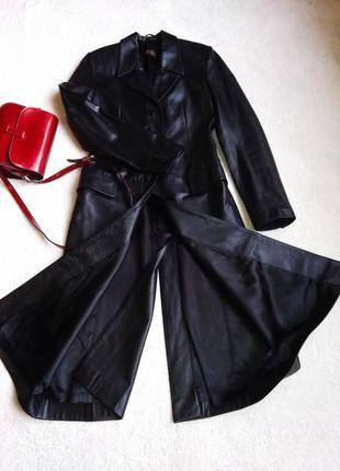 Супер элегантное брендовое кожаное пальто, италия