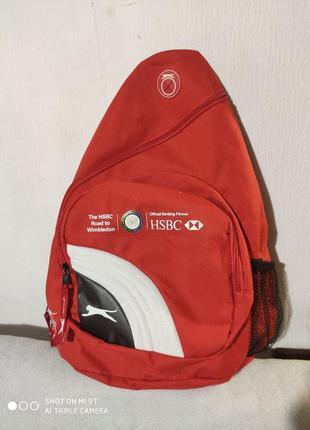 Яркий спортивный рюкзак slazenger для тенниса бадминтона