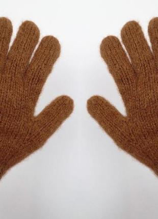 Мужские вязаные перчатки альпака теплые ручная работа