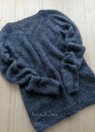 Шикарный свитер из итальянского кидмохера с мериносом