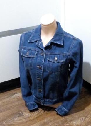 Джинсовая куртка индонезия короткая ,укорочена на низкий рост
