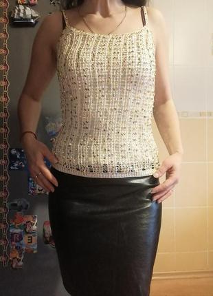 Майка, топ, блузка с пайетками p.38
