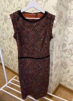 Теплое и стильное шерстяное платье benetton 8рр