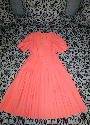 Платье кораловое клёш