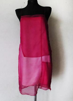 Платье сарафан helmut lang 100% шелк