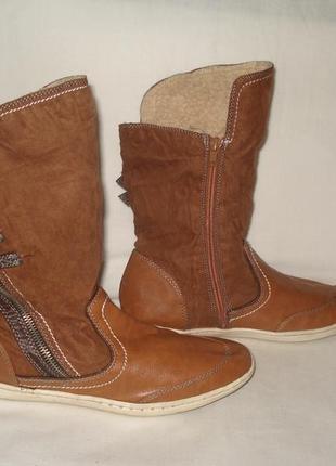 Фирменные утепленные высокие ботинки/кеды