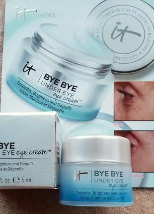 Разглаживающий крем для глаз it cosmetics от морщин, синяков и отеков
