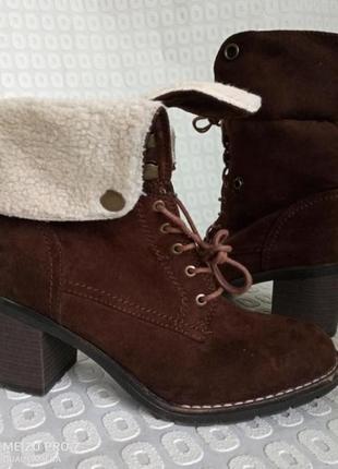 Стильние фирменние удобние ботинки от немецкого бренда graceland, 38