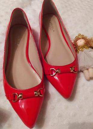 ‼️ только сегодня ‼️‼️‼️шыкарные красные лодочки туфли балетки