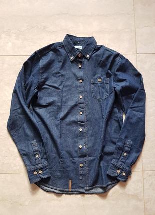 Классная джинсовая рубашка,унисекс