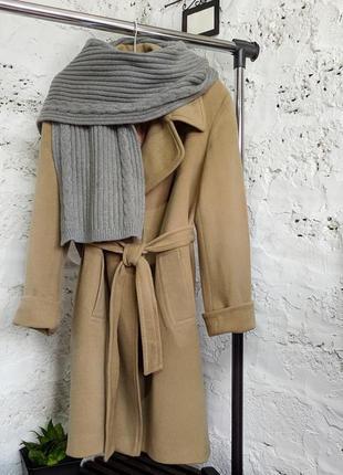 Стильный вязанный шарф мериносовая шерсть