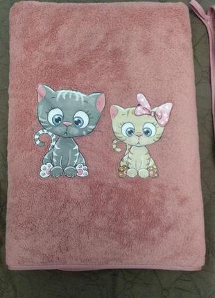 Комплект набор из 2 полотенец котики, турция
