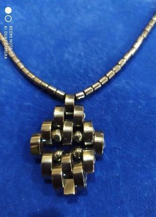 Красивое ожерелье гематитовое,не магнитное