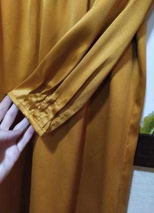 Актуальна гірчична сукня2 фото