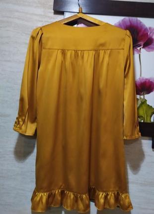 Актуальна гірчична сукня3 фото