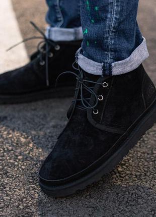 👍ugg neumel boot black👍мужские зимние ботинки/уги/угги чёрные зима мех.