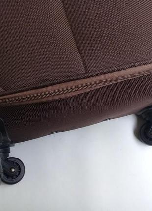 Чемодан ormi ручная кладь   – четырехколесный текстильный3 фото
