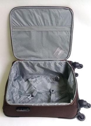 Чемодан ormi ручная кладь   – четырехколесный текстильный4 фото