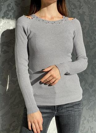 Разные цвета нарядный свитерок люрекс
