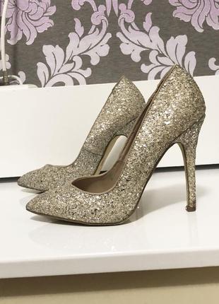 Шикарные туфли carvela от kurt geiger в блестки с англии