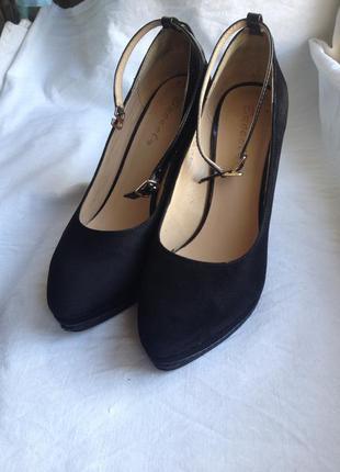 Праздничные туфли на танкетке 23,5 см по стельке