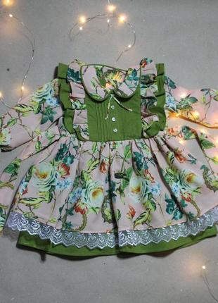 Праздничное платье на годик 74-80р