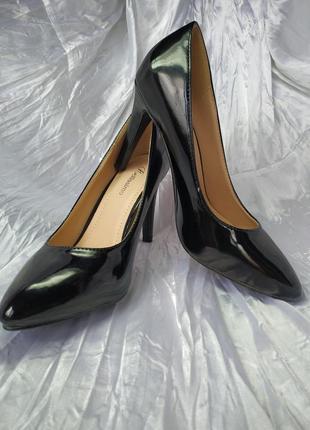 Туфли черные лаковые, bellissimo