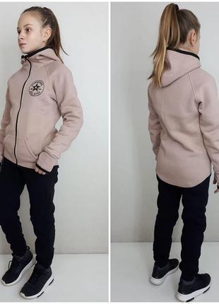 Утепленный костюм для девочки подростка 122-152рр