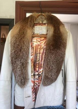 Куртка кожа,подкладка синтепон, хс с