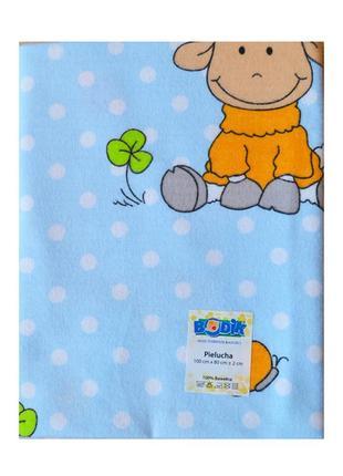 Пеленка фланелевая для новорожденных