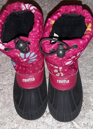 Reima кожа оригинал!мембранные зимние термо сапоги, сапожки ботинки