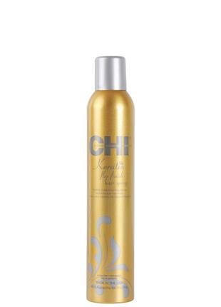 Лак для волос подвижной фиксации чи кератин 284g