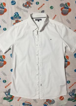 Tommy hilfiger белоснежная рубашка!