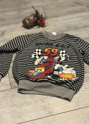 Детский реглан свитер кофта молния маккуин