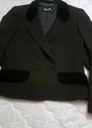 Черный пиджак devil италия   prada versace chanel