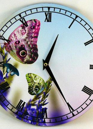 Настенные часы с бабочками