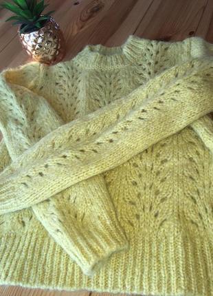 Тёплый свитер 24% мохер ангора