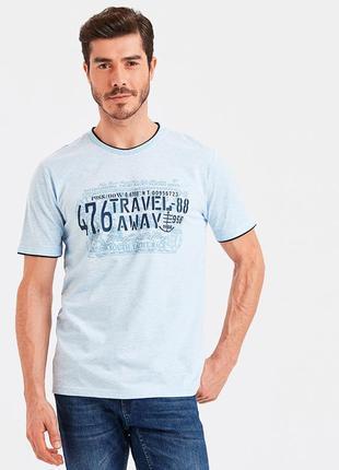 #розвантажуюсь голубая мужская футболка lc waikiki / лс вайкики travel away