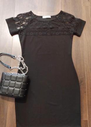 Платье gj нарядное с кружевной вставкой