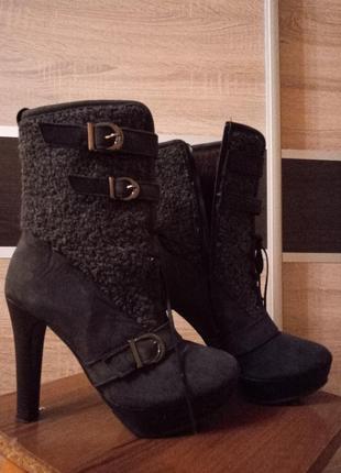 Ботинки осень-зима нубук натуральный